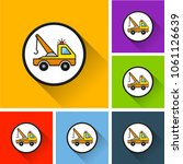illustration of tow truck icons ... | Shutterstock .eps vector #1061126639