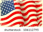 illustration of waving american ... | Shutterstock .eps vector #106112795