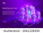 web hosting and data center... | Shutterstock .eps vector #1061128334