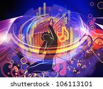 arrangement of girl silhouette  ... | Shutterstock . vector #106113101