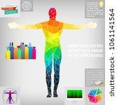 progressive man interests... | Shutterstock .eps vector #1061141564