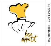 bon appetit graphic. vector... | Shutterstock .eps vector #1061143349