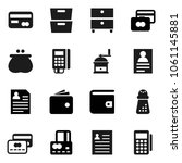 flat vector icon set   hand... | Shutterstock .eps vector #1061145881
