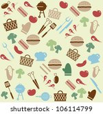 barbeque pattern | Shutterstock .eps vector #106114799