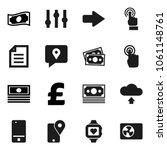 flat vector icon set   document ... | Shutterstock .eps vector #1061148761