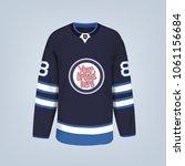 vector illustration of hockey... | Shutterstock .eps vector #1061156684