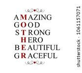 mother amazing  good  strong ... | Shutterstock . vector #1061157071