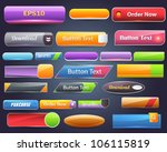 web elements shiny vector... | Shutterstock .eps vector #106115819
