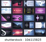 20 premium business card design ... | Shutterstock .eps vector #106115825