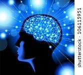 silhouette of the head  brain ... | Shutterstock .eps vector #106115951