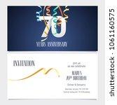 70 years anniversary invitation ... | Shutterstock .eps vector #1061160575