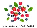 Fresh berries isolated on white ...