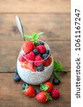 chia. superfoods breakfast with ...   Shutterstock . vector #1061167247
