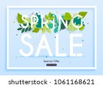 sale banner with flowers ... | Shutterstock .eps vector #1061168621
