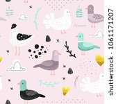 seamless pattern with cute... | Shutterstock .eps vector #1061171207
