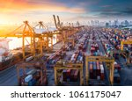 logistics and transportation of ... | Shutterstock . vector #1061175047