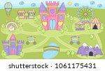 fantasy fairy tale world... | Shutterstock .eps vector #1061175431