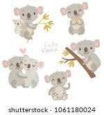 Stock vector koala cute vector illustration 1061180024