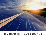 the sun goes up to the sky in... | Shutterstock . vector #1061183471