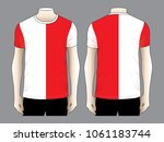 stripe t shirt design vector ... | Shutterstock .eps vector #1061183744