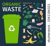 bin for recycling organic waste.... | Shutterstock .eps vector #1061186321