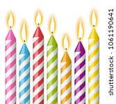 collection of colored candles... | Shutterstock .eps vector #1061190641