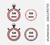 timer 58 seconds on gray... | Shutterstock .eps vector #1061190755