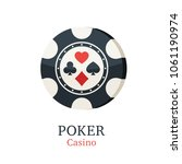 chips casino with card suits....   Shutterstock .eps vector #1061190974