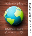 earth day illustration with... | Shutterstock .eps vector #1061193359