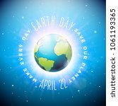 earth day illustration with... | Shutterstock .eps vector #1061193365