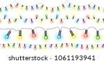seamless light strings with... | Shutterstock .eps vector #1061193941