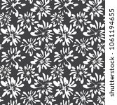 stylish hand drawn floral... | Shutterstock .eps vector #1061194655