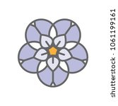 forget me not stylized flower... | Shutterstock .eps vector #1061199161