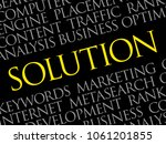 solution word cloud collage ... | Shutterstock .eps vector #1061201855