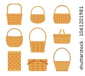 collection of empty baskets ... | Shutterstock .eps vector #1061201981