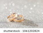 silver sparkling glitter bokeh... | Shutterstock . vector #1061202824