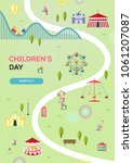 children's day illustration | Shutterstock .eps vector #1061207087