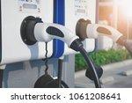 electric vehicle charging  ev ... | Shutterstock . vector #1061208641