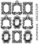 baroque frames set decor.... | Shutterstock .eps vector #1061215139
