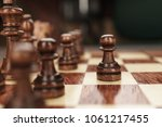 chess leadership concept on the ... | Shutterstock . vector #1061217455