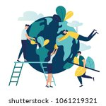 vector flat illustration ... | Shutterstock .eps vector #1061219321
