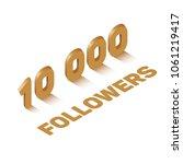 bronze ten thousand followers...   Shutterstock .eps vector #1061219417