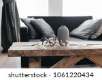 minimalistic home decor on... | Shutterstock . vector #1061220434