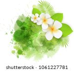 abstract tropical background... | Shutterstock .eps vector #1061227781
