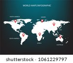 world map info graphic template ... | Shutterstock .eps vector #1061229797