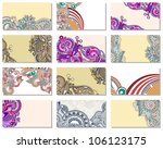 collection of colorful floral... | Shutterstock .eps vector #106123175