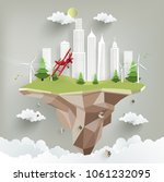 eco city with modern design...   Shutterstock .eps vector #1061232095