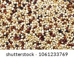 closeup of tricolor quinoa... | Shutterstock . vector #1061233769