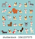 vector illustration set of cute ... | Shutterstock .eps vector #1061237375