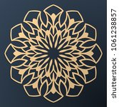 laser cutting mandala. golden... | Shutterstock .eps vector #1061238857
